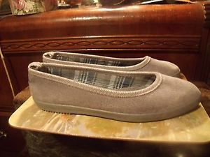 BUTTERFLY GREY CORDUROY CASUAL SHOES SIZE 7M