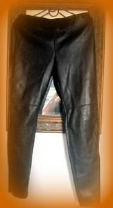 HENNES & MAURITZ SWEDEN  H & M  LEATHER TYPE PANTS SIZE 10