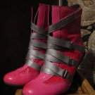 LOWER EAST SIDE PINK/GRAY LACE-UP BOOTS SIZE 6M
