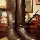 BOOTS BROWN LEATHER KNEEHIGH SIZE7.50 M