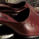LINEA PAOLO BROWN LEATHER SIZE 8.50M  MULES