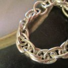 SILVER RHODIUM MANS' CHAIN RING SIZE 12 to 20