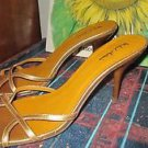 "MICHAEL ANTONIO SIZE 10.50 GOLD SLINGS SANDAL 3.50"" HEEL NEW"