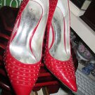 JESSICA SIMPSON RED PATENT LEATHER STILETTO PUMPS SIZE 8.50