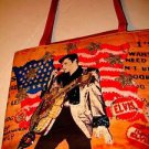 ELVIS PRESLEY HANDBAG ASHLEY M LEATHER AND LINEN