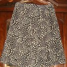 hillard and hanson OPT ART PATTERN BLACK AND GREY SKIRT SIZE 8