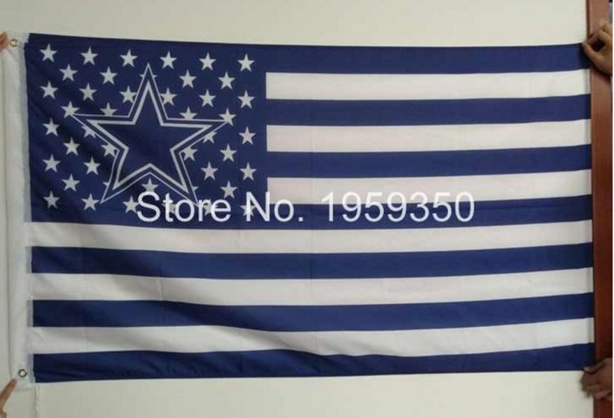 Polyester Dallas Cowboys US star stripe 3X5ft Flag with 100D polyester 90x150cm