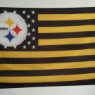 Pittsburgh Steelers Official Football Team 3X 5ft Flag with US star stripe
