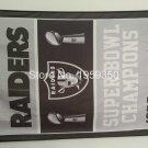 Oakland Raiders Super Bowl Champions Flag 3ft x 5ft Polyester flag