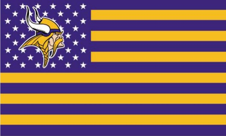 Minnesota Vikings with starts and stripes Flag 3ft x 5ft Polyester Banner 90x150cm