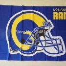 Los Angeles Rams helmet flag 3FTx5FT Banner 100D Polyester Flag metal Grommets