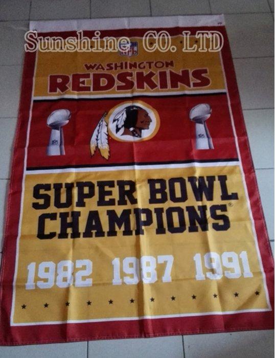 Washington Redskins Champions Flag 3ft x 5ft Polyester flag