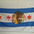 Chicago Blackhawks USA Team Logo NHL Premium Team Hockey Flag 3X5FT