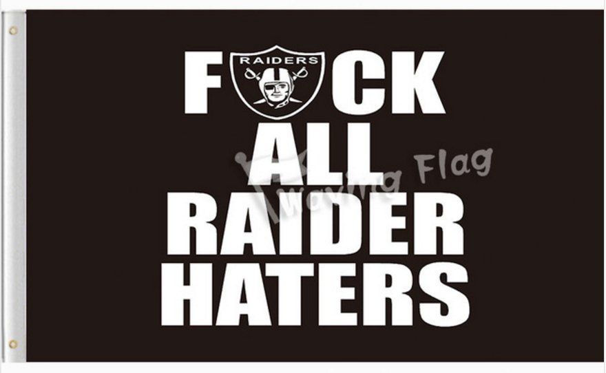 Oakland Raiders 3ftx5ft banner Flag 100D polyester 2 metal grommets 90x150cm style 2