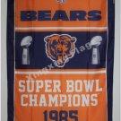 Chicago Bears Super Bowl Champions Flag 3ft x 5ft Polyester NFL Banner flag