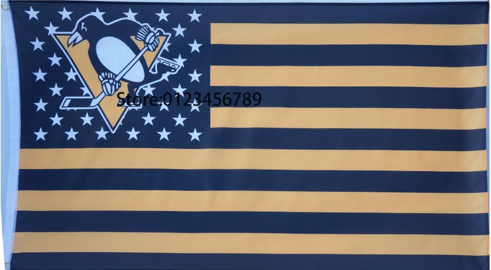 Pittsburgh Penguins Flag 3ft x 5ft Polyester Custom flag