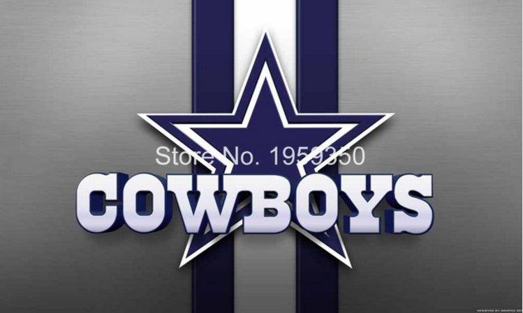 Dallas Cowboys logo with stripes Flying Flag Banner flag 3ft x 5ft 100D Polyester 90x150cm