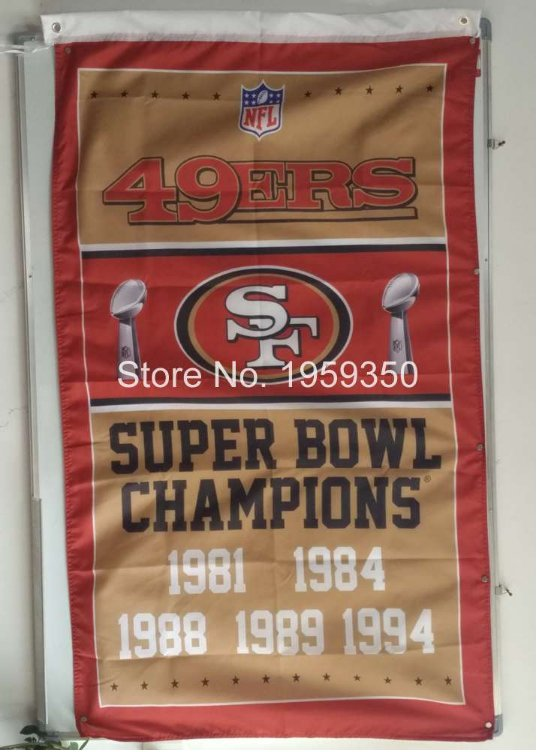 San Francisco 49ers champions ship flag NFL 150x90cm