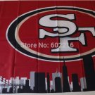 San Francisco 49ers skyline Large Outdoor 3 x 5ft Banner Flag 90x150cm 2 metal grommets