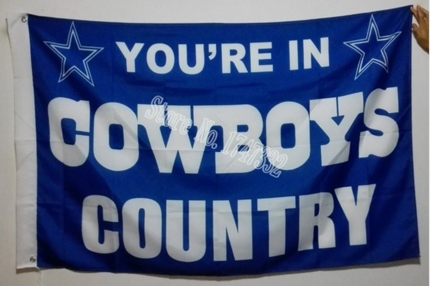 Dallas Cowboys country flag 3ftx5ft Banner 100D Polyester Flag