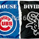 Chicago Cub vs Chicago White Sox House Divided Rivalry Flag 90x150cm