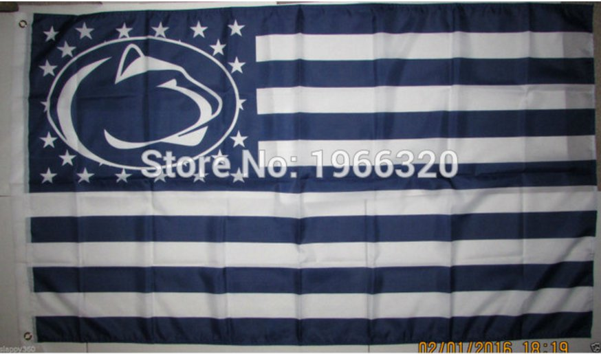 Penn State Nittany Lions Nation Flag 3ft x 5ft Polyester NCAA Banner Flying Custom flag 90x150cm