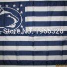 Penn State Nittany Lions Nation Flag 3ft x 5ft Polyester NCAA Banner Flying Custom flag 90x150cm