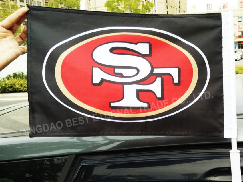 BEST FLAG -NFL SF 49er Double sided 12x18 inches car flag style 1