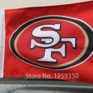 BEST FLAG -NFL SF 49er Double sided 12x18 inches car flag style 2