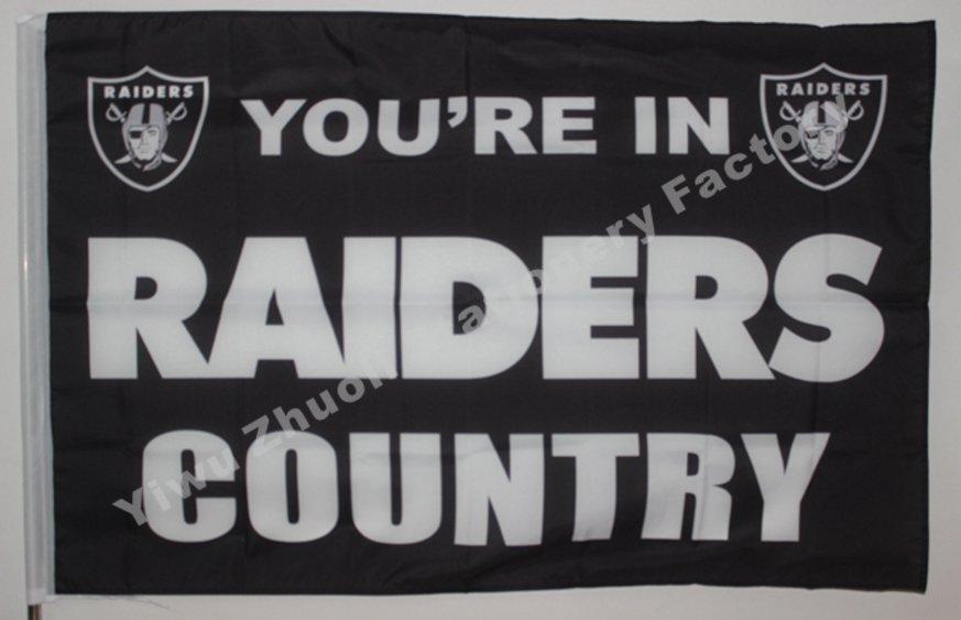 Oakland Raiders Flag 3ft x 5ft Polyester NCAA Banner Flying Custom flag 90x150cm