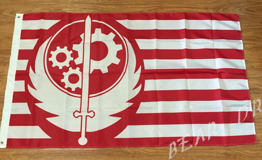 Brotherhood of Steel flag 3ftx5ft 100D Polyester Flag metal Grommets 90x150cm