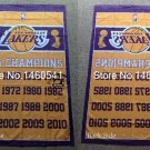 Los Angeles Lakers World Champions Flag 3ft x 5ft Polyester NBA flag