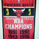 Chicago Bulls Champions Flag 3ft x 5ft Polyester 90X150cm