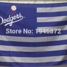 Los Angeles Dodgers logo US star stripe flag 3ftx5ft Banner 100D Polyester MLB Flag