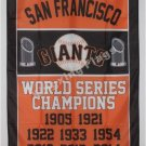 San Francisco Giants World Series Champions Flag 3ft x 5ft Polyester MLB Banner flag