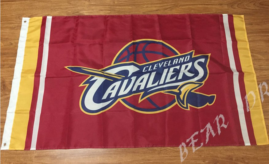 Cleveland Cavaliers Flag 3ft x 5ft Polyester Banner 90x150cm