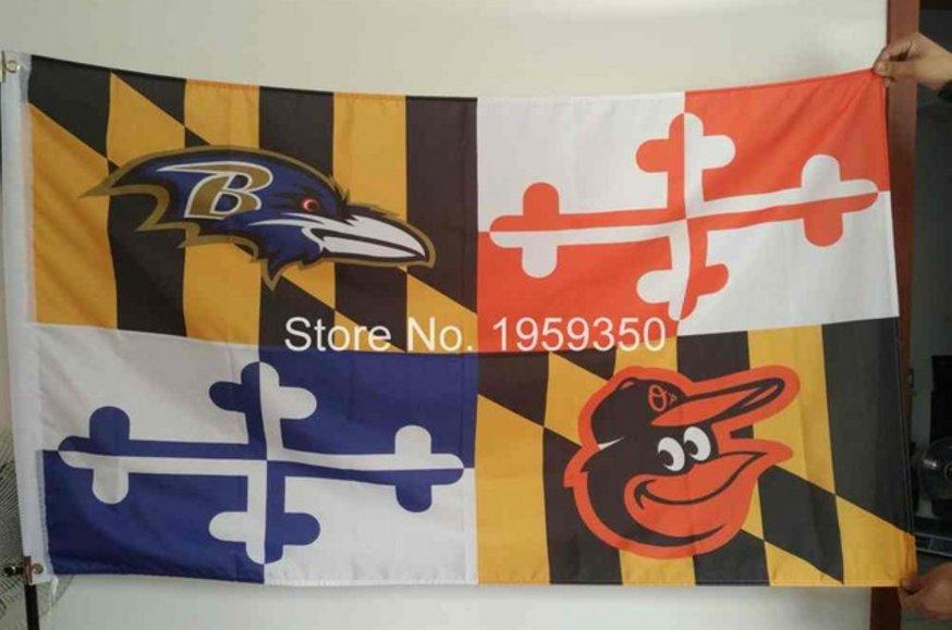 Baltimore Ravens Baltimore Orioles Maryland Flying Flag Banner Flying Custom flag 3ft x 5ft