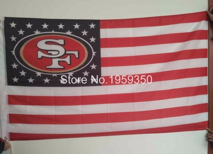 San Francisco 49ers flag banner with modified US Flag 3ft x 5ft Polyester flag 90x150cm