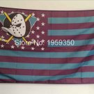 Anaheim Ducks Flag with starts and stripes 3ftx5ft Banner 100D Polyester NHL Flag