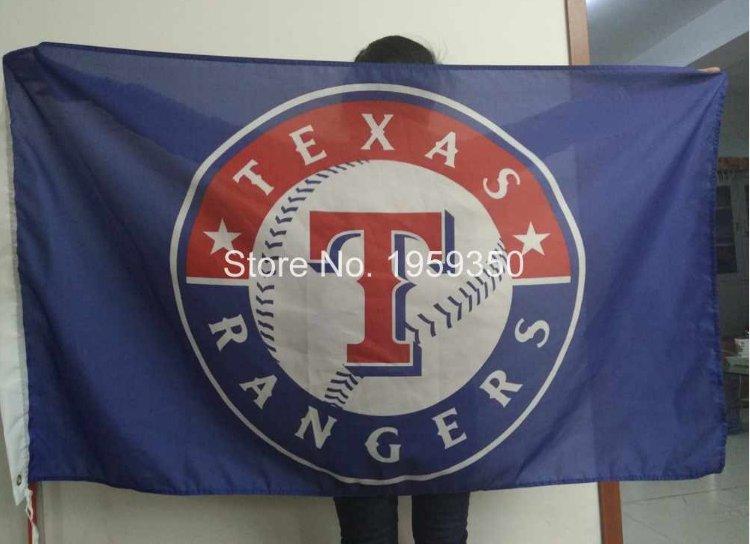 MLB Texas Rangers Flag 3x5 FT 150X90CM Banner 100D Polyester flag style 1
