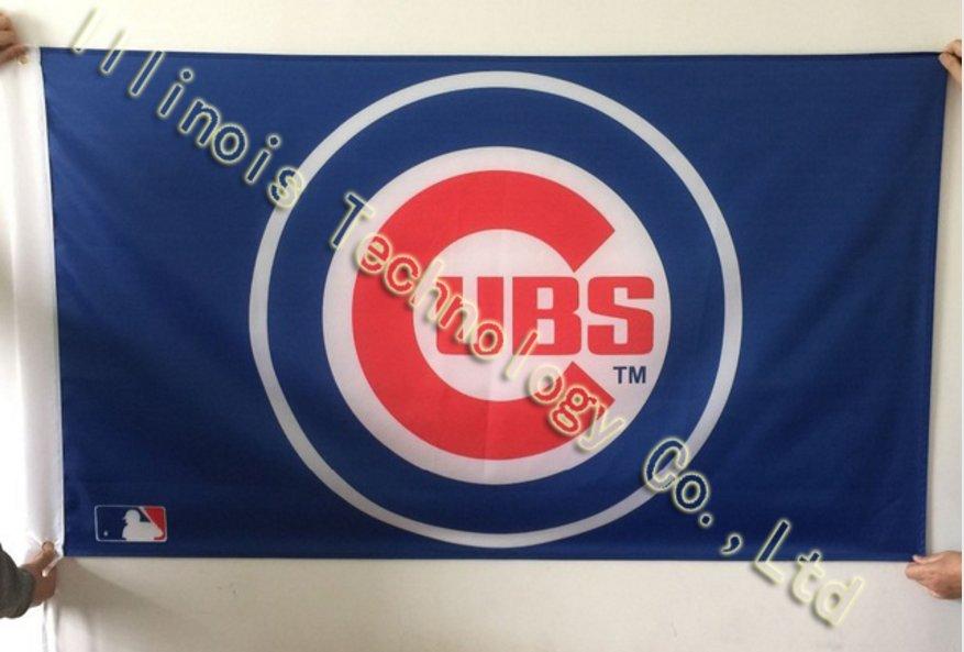 MLB 3'x5' Chicago Cubs flag, 90x150cm Chicago Cubs Baseball flag banners