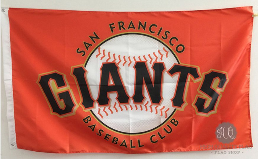 San Francisco Giants Personalized Flag 3 x 5ft MLB 150X90CM Banner metal holes Flag style 2