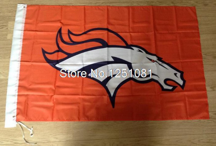 Denver Broncos Flag 3ft x 5ft Polyester Denver Broncos Banner flag