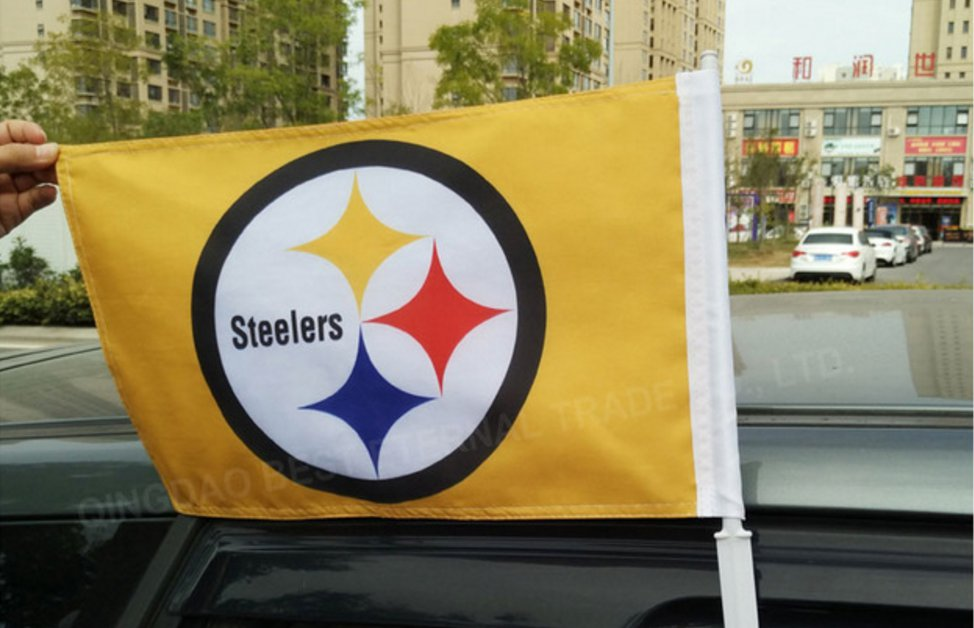 BEST FLAG -NFL Pittsburg Steelers car flag