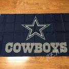 Dallas Cowboys logo flag 3ftx5ft Banner 100D Polyester Flag metal Grommets 90x150cm