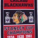 Chicago Blackhawks champion vertical flag 3x5 FT Banner 100D Polyester NHL Flag