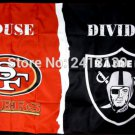 San Francisco 49ers vs. Oakland Raiders House Divided Rivalry Flag 3x5 ft