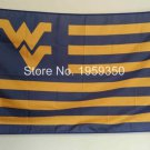 West Virginia Mountaineers stripes Flag 3ft x 5ft Polyester NCAA Banner Flying Custom flag 90x150cm