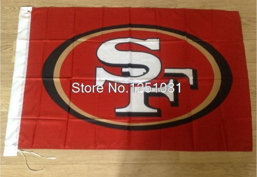San Francisco 49ers Flag 3FTx5FT Banner 100D Polyester flag