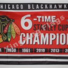Chicago Blackhawks champion flag 3x5 FT Banner 100D Polyester NHL Flag Brass Grommets